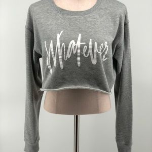 Cotton : On Whatever Crop Top Gray Size L    *Flaw